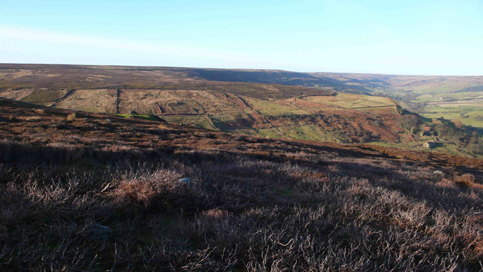Rosedale in Winter, North York Moors, view from Chimney Bank looking South