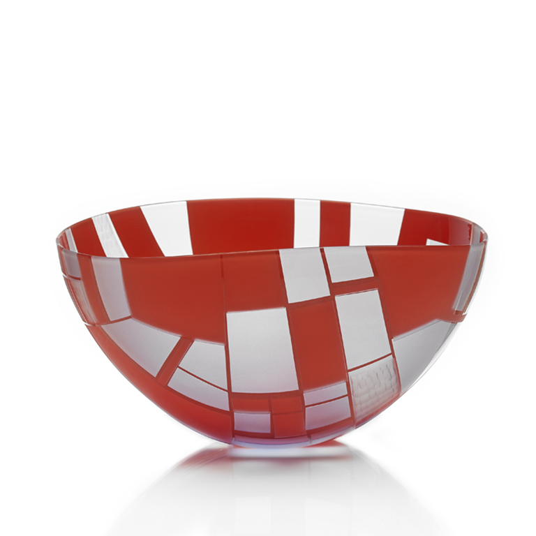 Landscape Bowl – Sky Blue over Red