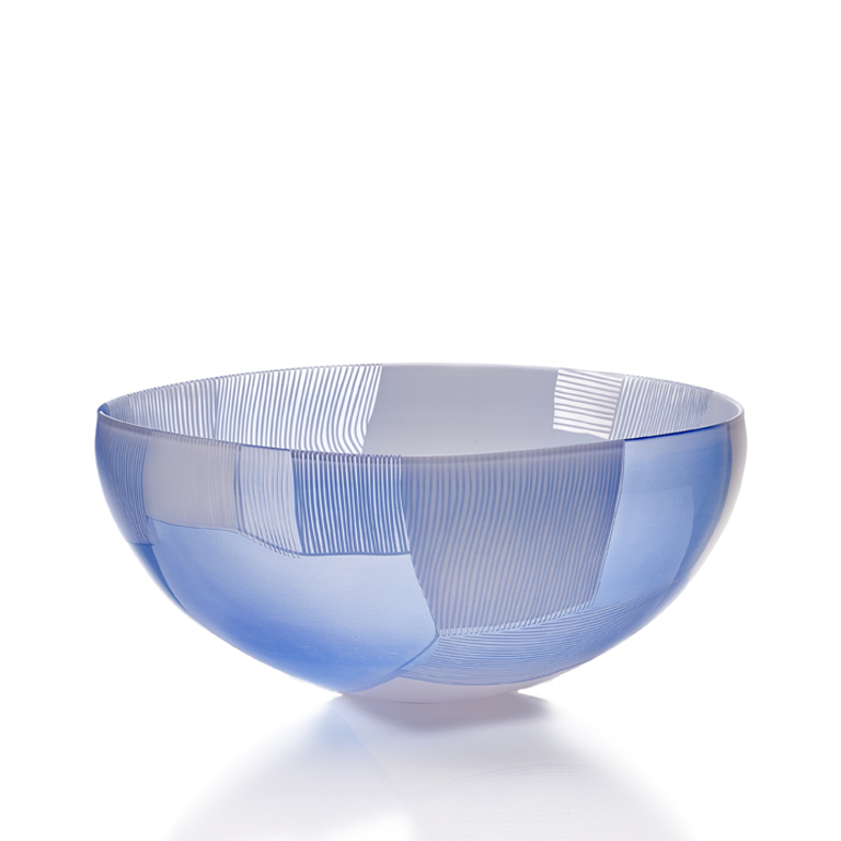 Landscape – Blue over White Glass