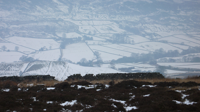 Winter over Rosedale Abbey