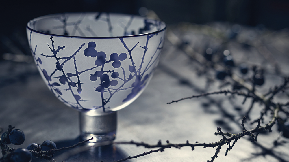 Limited Edition Sloe Berry Bowl 2018 Contemporary Glass
